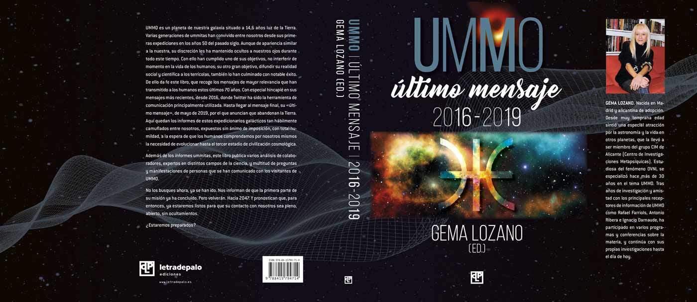 UMMO: Último mensaje 2016-2019 Cubierta