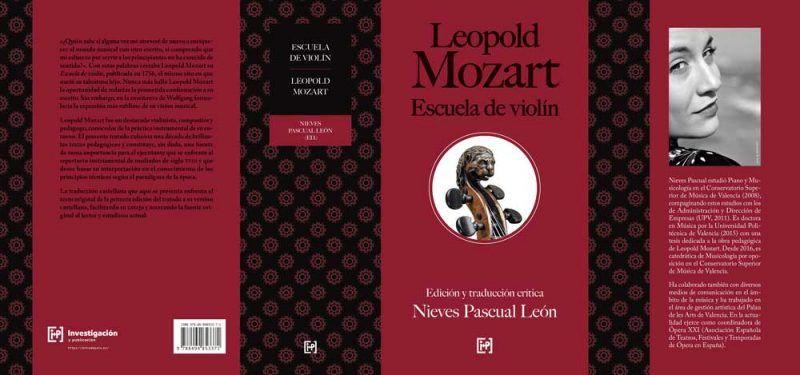 Leopold Mozart: Escuela de violín - Sobrecubierta